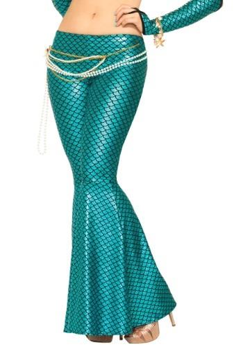 Womens Blue Mermaid Leggings