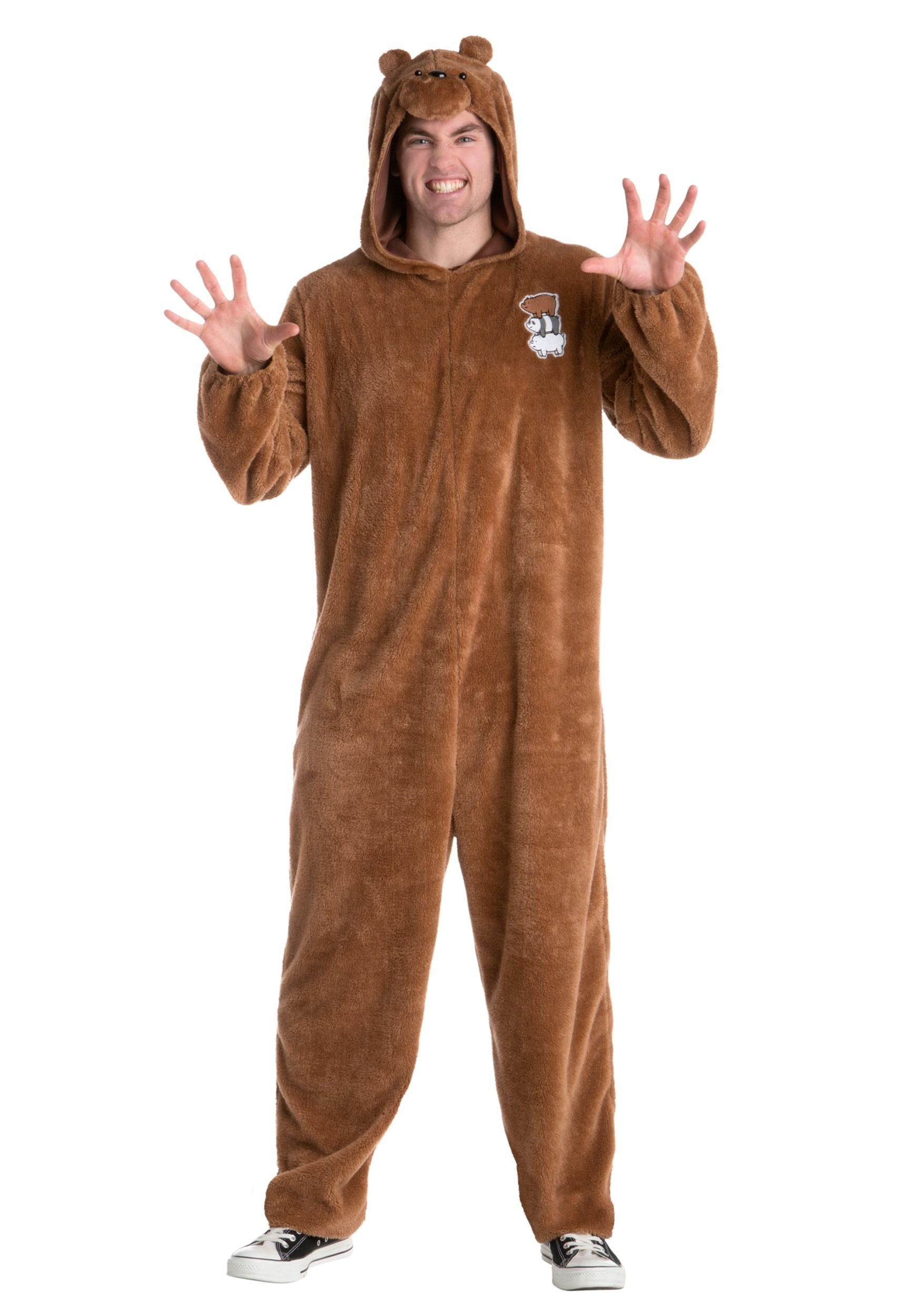We Bare Bears Grizz Bear Costume for Men