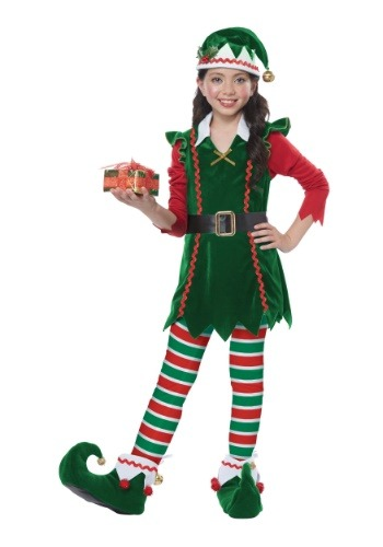 Child Festive Elf Costume