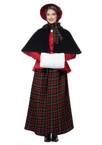 Women's Holiday Caroler Costume