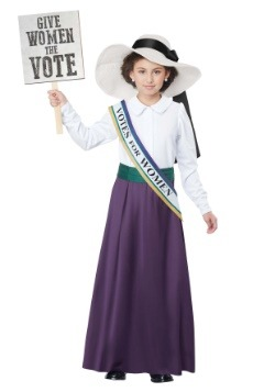Girls American Suffragette Costume