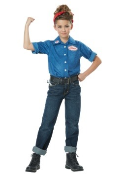 Girls Rosie the Riveter Costume