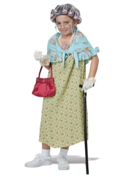 Girls Old Lady Costume Kit