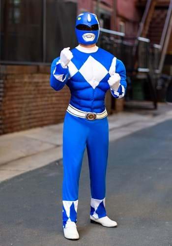 Men's Power Rangers Blue Ranger Muscle Costume