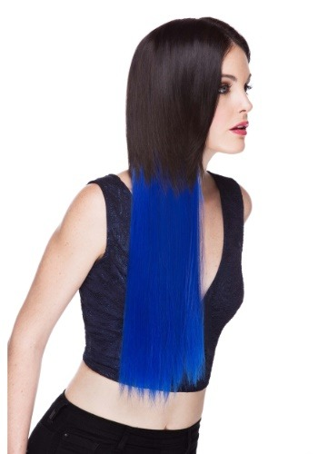 "Regal Blue 22"" Heat Stylable Clip In Hair Extension"