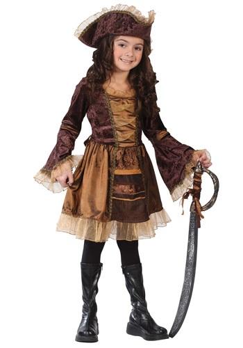 Child Sassy Victorian Pirate Costume