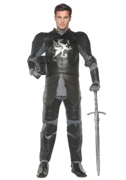 Mens Black Knight Costume