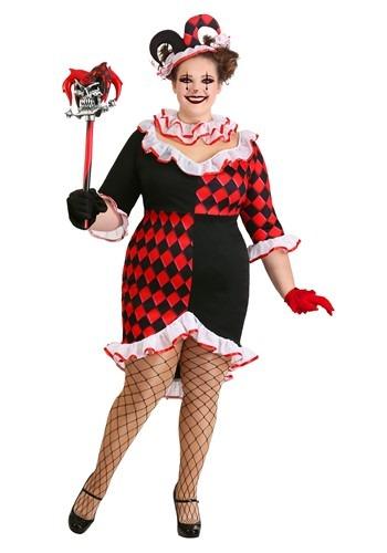 Women's Haute Harlequin Costume Plus Size
