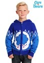 Child Care Bears Grumpy Bear Zip Up Knit Sweater alt2