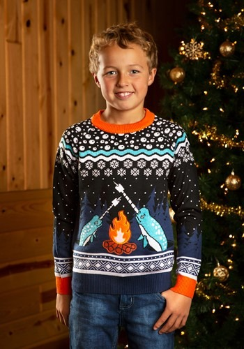 Narwhal Child Ugly Christmas Sweater Update