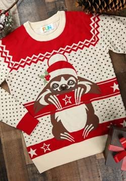 Adult Sloth Ugly Christmas Sweater