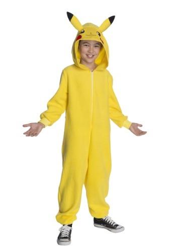 Child Pokemon Pikachu Jumpsuit Costume