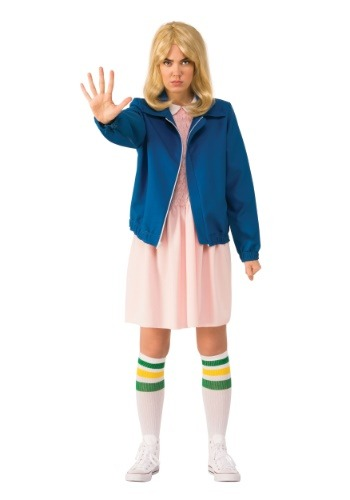 Adult Stranger Things Eleven Blue Jacket Costume