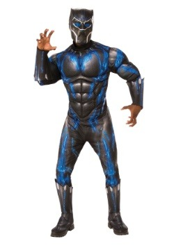Adult Deluxe Black Panther Blue Costume