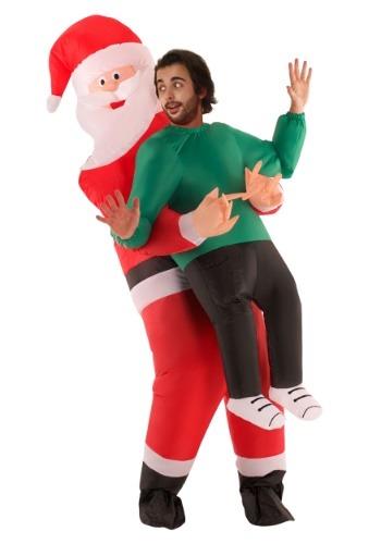 Adult Inflatable Santa Pick Me Up Costume