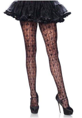 Women's Queen of Hearts Net Tights