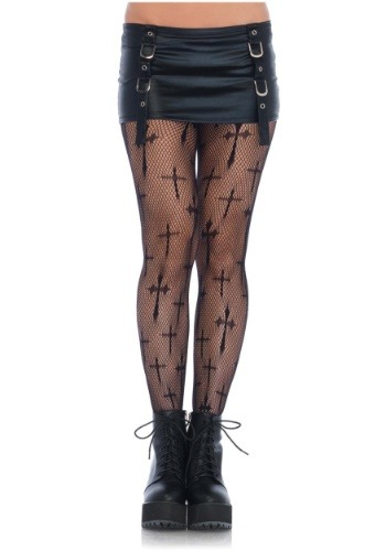 Plus Size Cross Net Tights