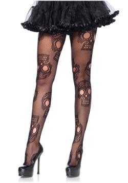 Women's Plus Size Day of the Dead Tights