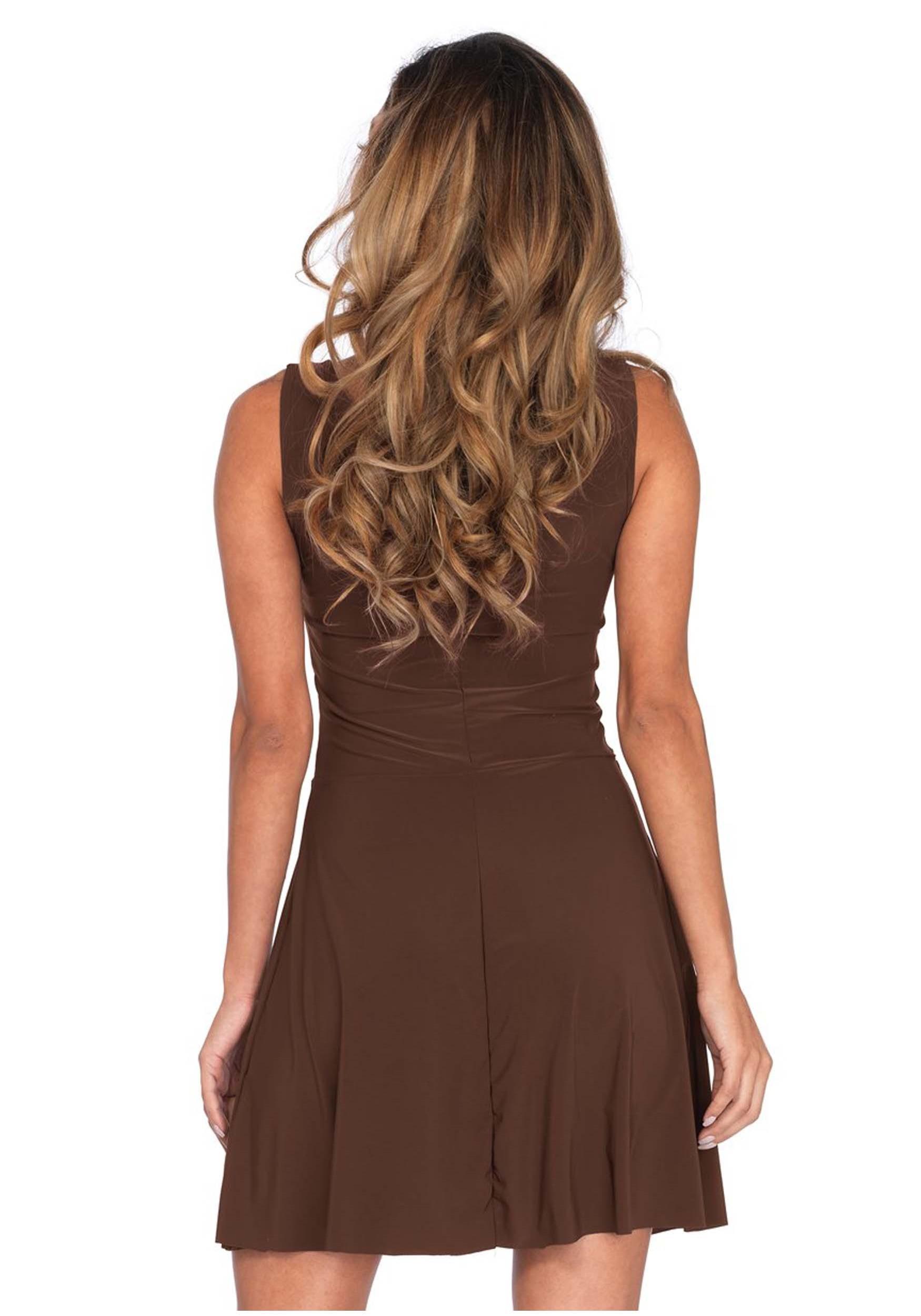 Basic Brown Skater Dress Costume for Women