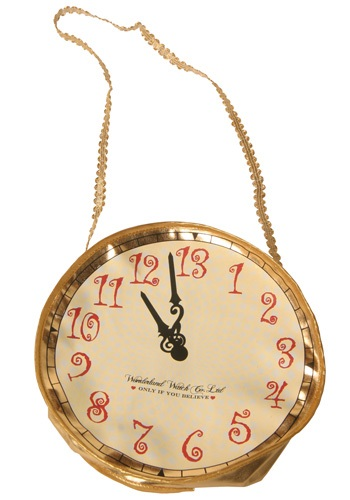 Gold Alice Clock Purse