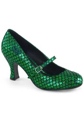 Women's Green Mermaid Heels