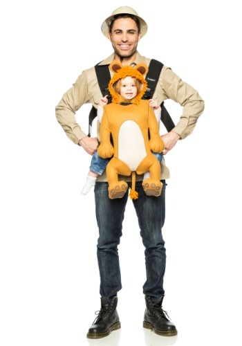 Adult Safari Guide and Lion Carrier Costume