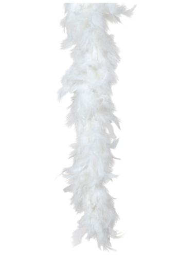 White 80 Gram Feather Boa