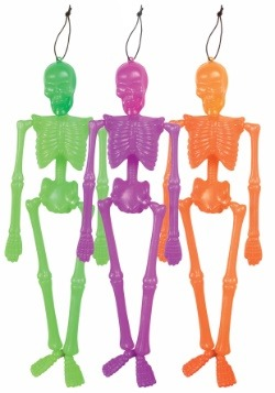 Hanging Neon Skeleton
