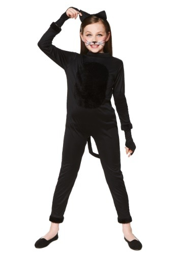 Girl's Black Cat Costume