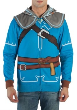 Mens Breath of the Wild Zelda Suit Up Costume Hood