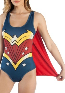 DC Comics Wonder Woman Costume Bodysuit with Cape