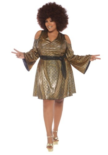 Women's Plus Size Disco Doll Costume