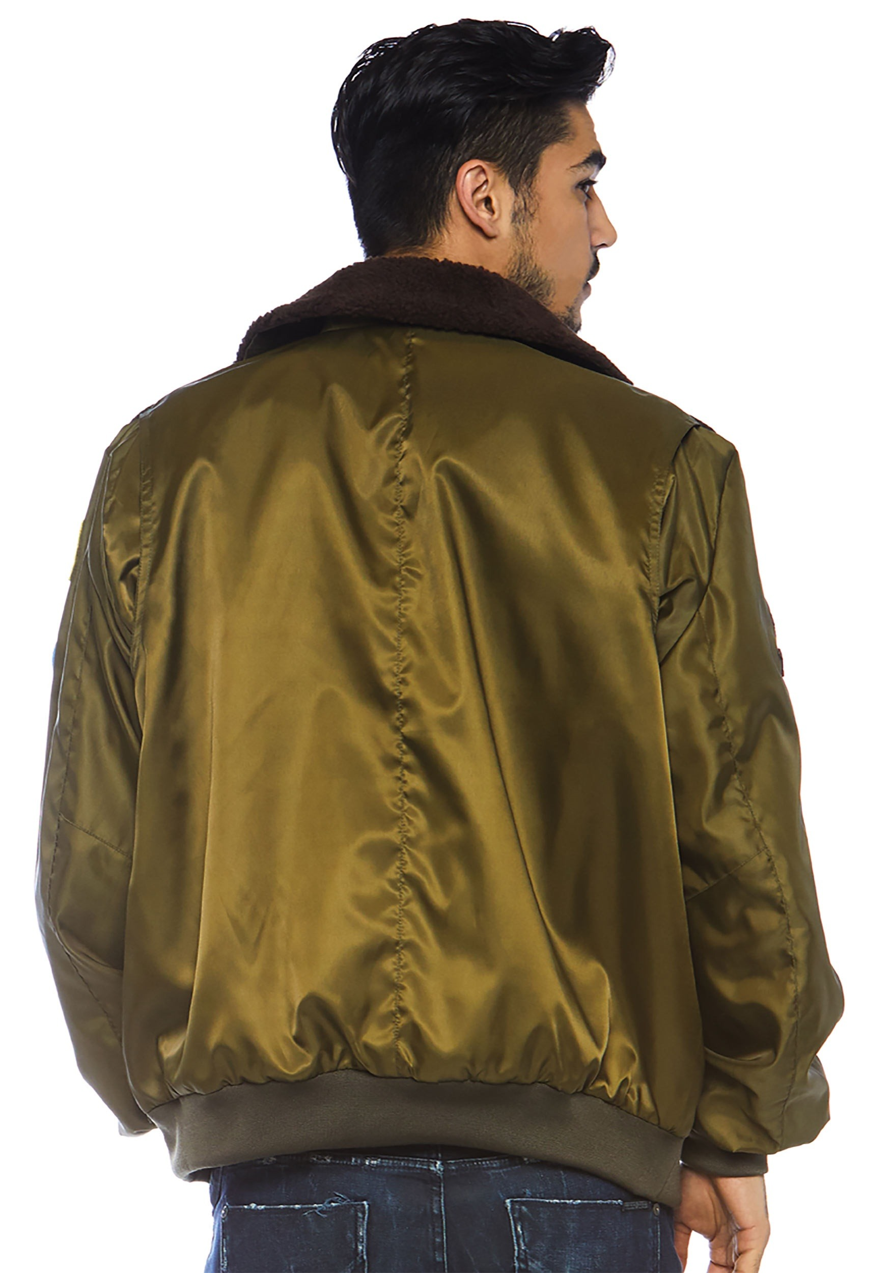 Top Gun Nylon Bomber Jacket Costume for Men