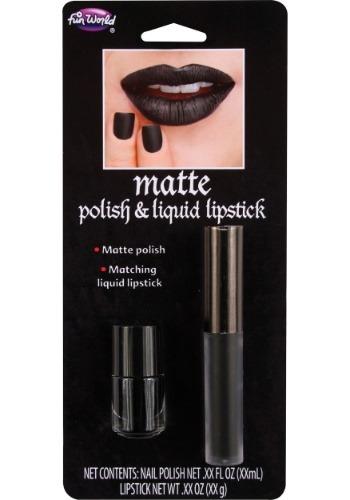 Black Matte Liquid Lipstick and Nail Polish