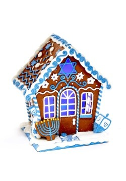 7 inch Claydough LED Hanukkah Gingerbread House