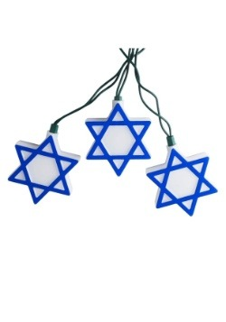 Star of David Hanukkah 10-Piece String Light Set