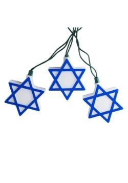 Star of David Hanukkah 10-Piece String Light Set