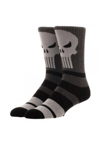 Marvel Punisher Marled Varsity Crew Socks