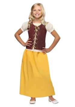 Girls Red Peasant Dress
