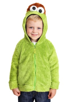 Oscar the Grouch Sesame Street Faux Fur Costume Hoodie