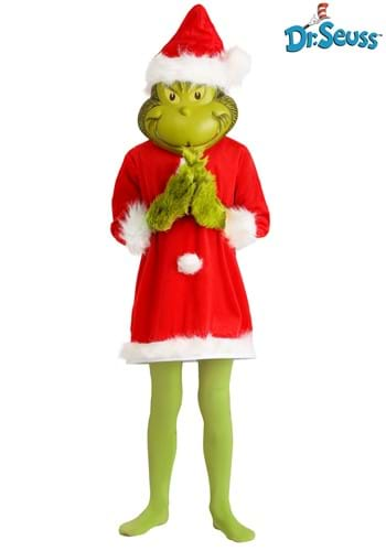 The Grinch Santa Deluxe Kids Costume with Mask update3