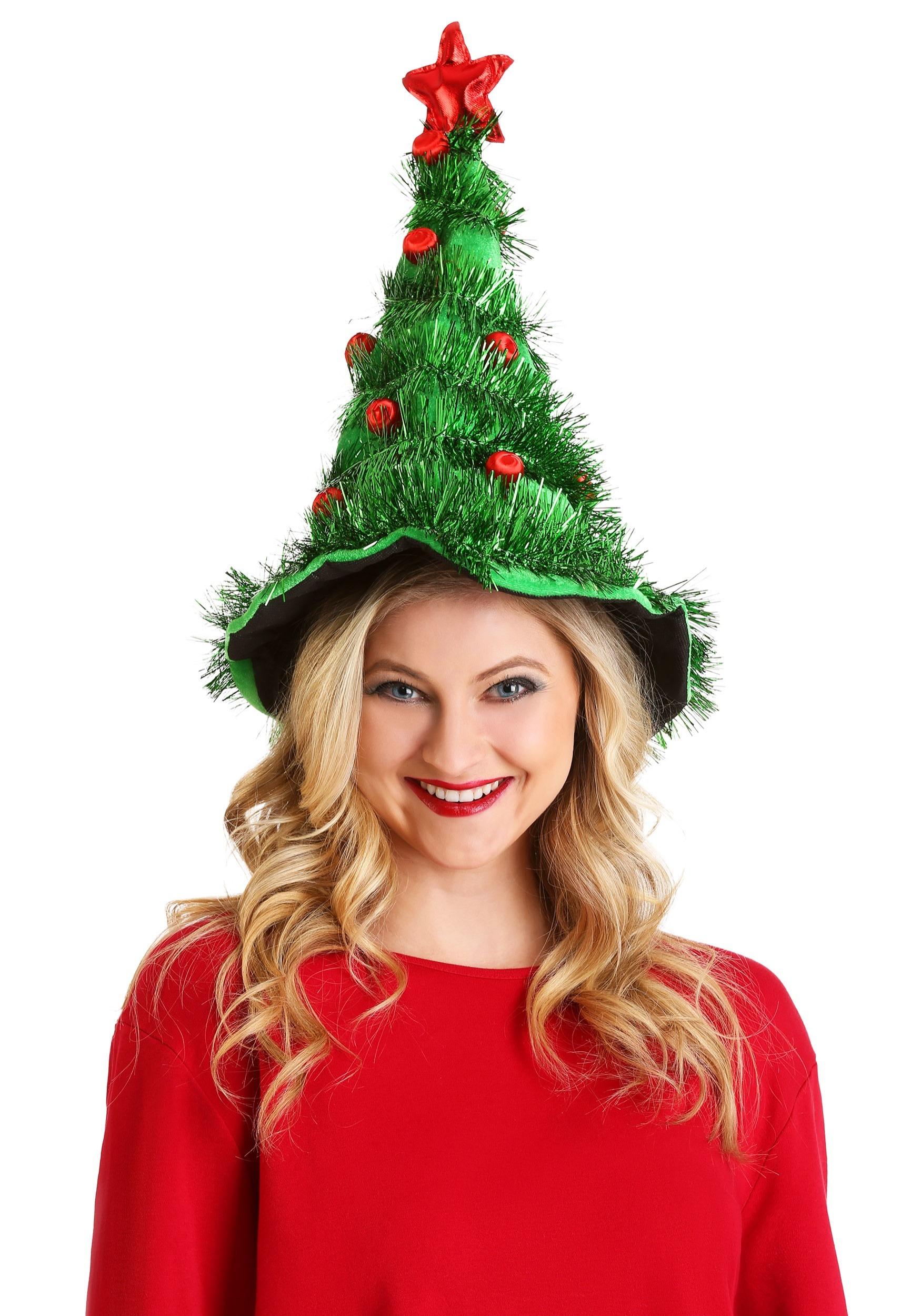Christmas Tree Hat.Festive Light Up Christmas Tree Hat