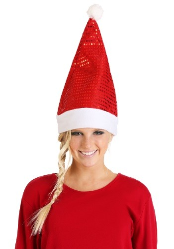 Red Sequin Santa Hat