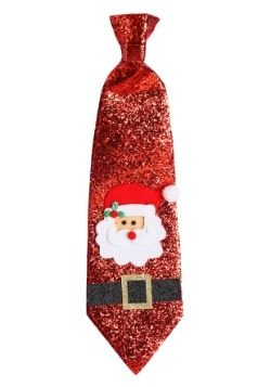 Glitter-Covered Santa Tie
