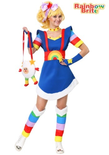 Women's Plus Rainbow Brite Costume