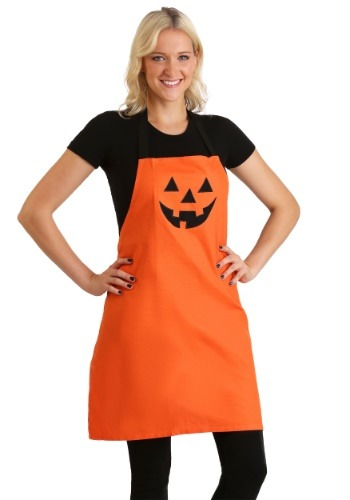 Jack O' Lantern Orange Embroidered Apron11
