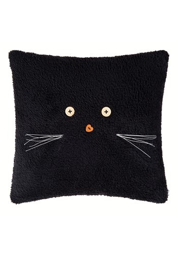 "Black Cat 12"" Halloween Decor Pillow"