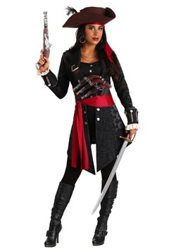 Women's Plus Size Fearless Pirate Costume Main