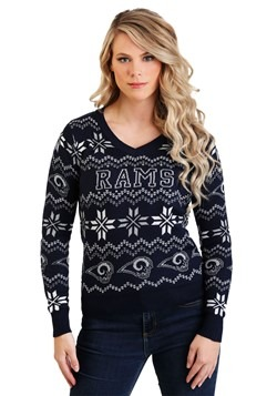 Los Angeles Rams Women's Light Up V-Neck Bluetooth Sweater