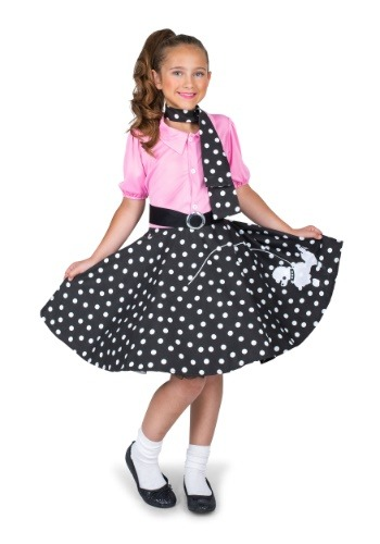 Girl's Sock Hop Cutie Costume